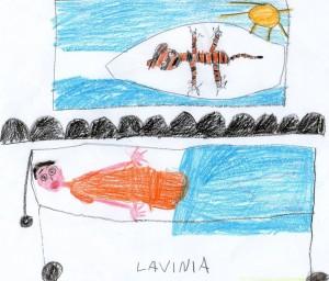Questo è il disegno ricordo che ha fatto Martina per Daniele.