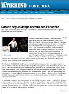 Daniele segue Merigo a teatro con Panariello.